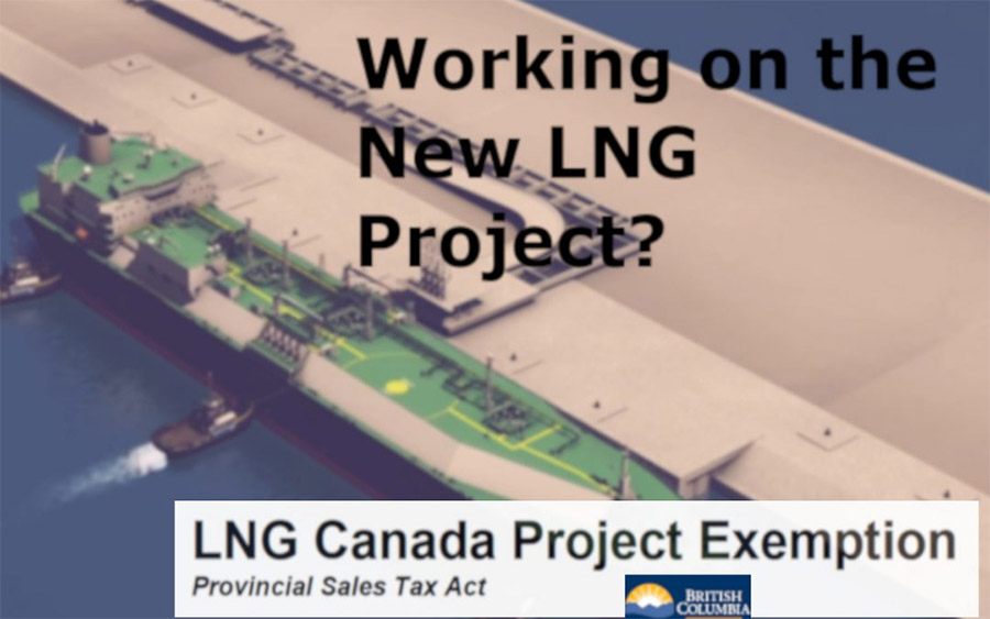 bc government announces pst exemptions for the new lng facility